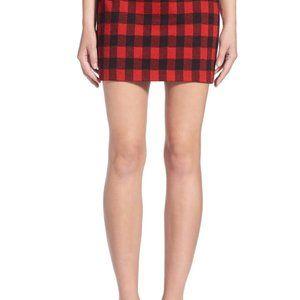 Madewell 'Bowery' Buffalo Check Miniskirt